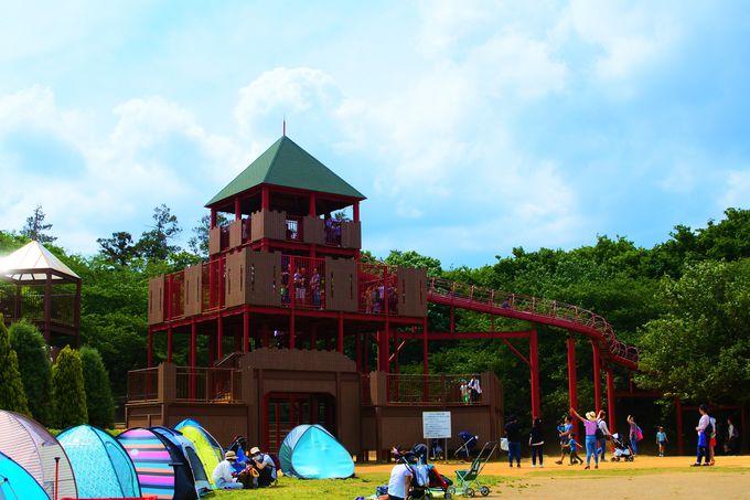 子どもが楽しめる「ワンパク王国ゾーン」!