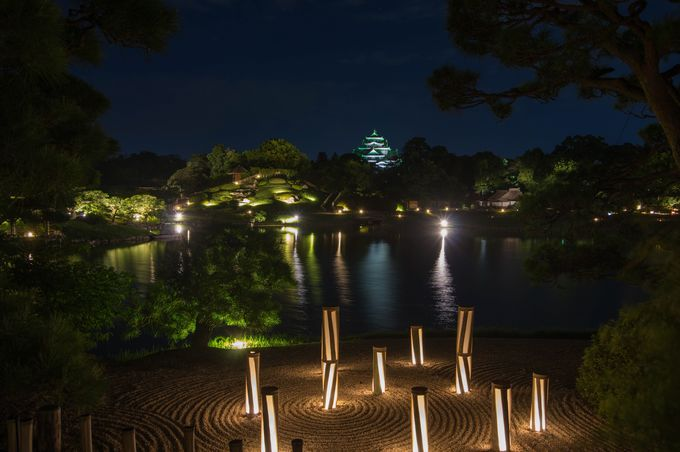ライトアップが美しい「夏の幻想庭園」