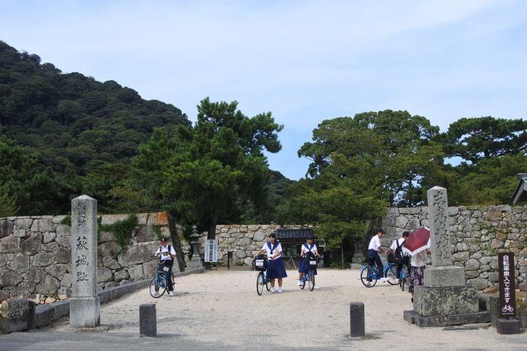 世界遺産の萩城跡指月公園!