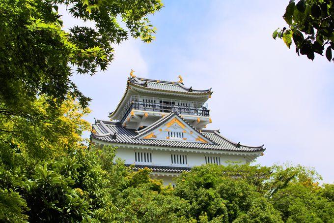 金華山に佇む岐阜城!
