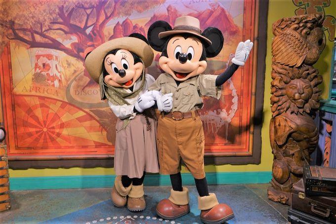 ミッキーとミニーの貴重なサファリルック!