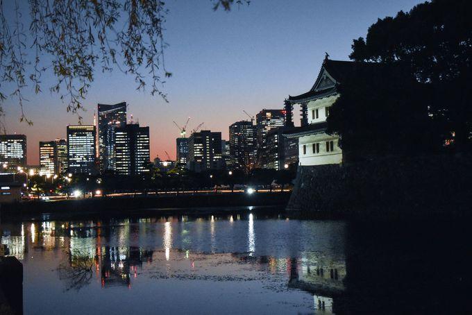 東京タワー方面に沈む夕日のマジックアワー