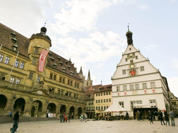 中世の町並みの中心「マルクト広場」