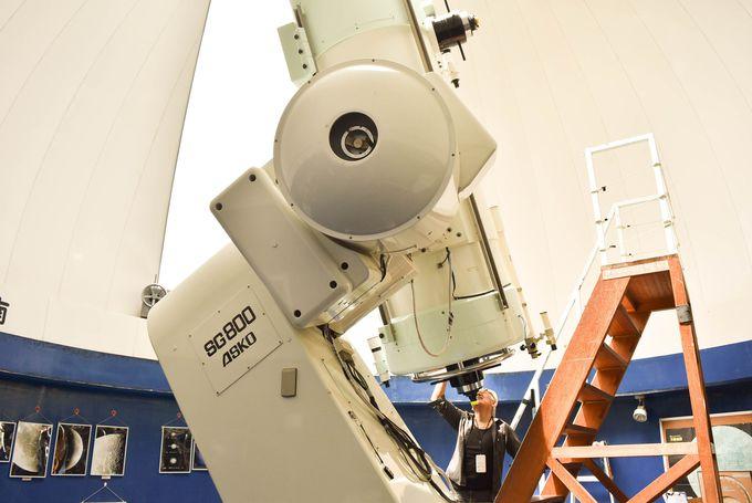 日本有数の望遠鏡を備えた天文台