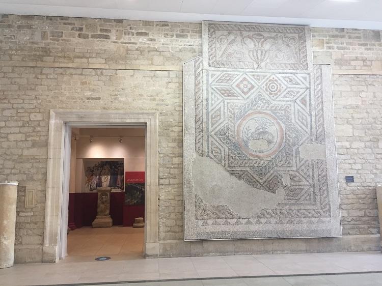 コリニウム博物館 アイドルはローマ時代のモザイク「兎」!