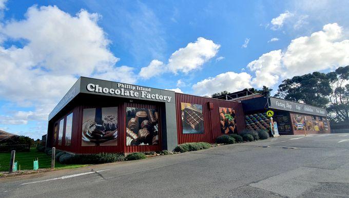 フィリップ島にはチョコレート工場やワイナリーも