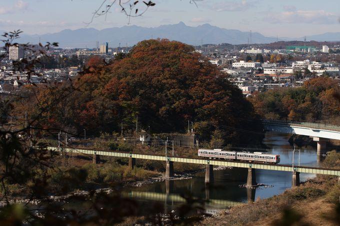 渡良瀬川を渡り桐生市街へ…
