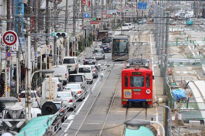 起点は天王寺駅前停留所=あべのハルカスのすぐ横!