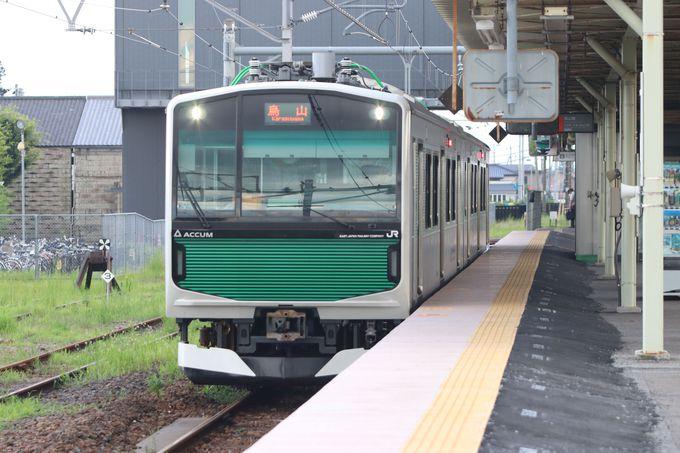路線の起点は宝積寺駅〜ここから電池で走る!