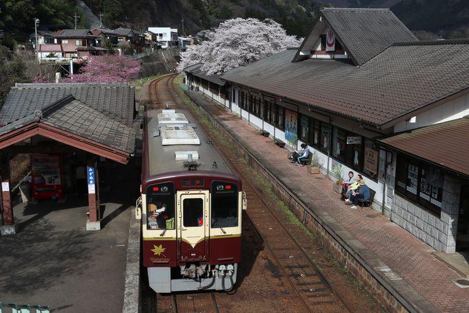 温泉でゆったり〜「関東の駅百選」水沼駅は桜も見事!
