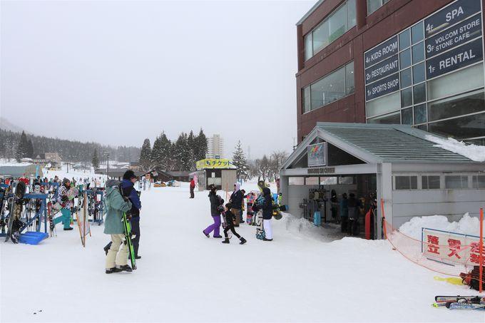 駅舎に直結!越後中里駅前に広がる湯沢中里スキーリゾート