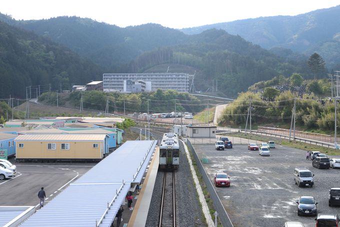 復興のシンボル・女川駅から太平洋を望む