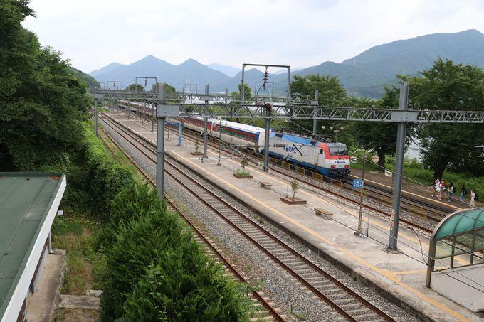 出発は釜山駅または釜田駅から〜約40分の急行列車の旅