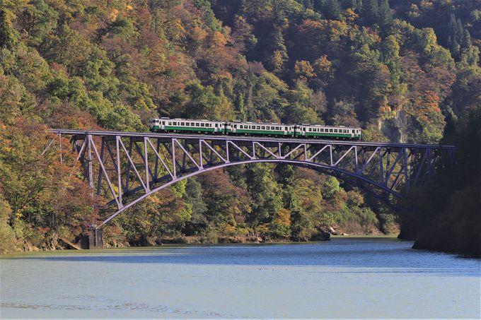 只見川のほとりから「只見川第一橋梁」を眺めよう!