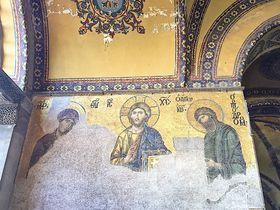 イスタンブールの世界遺産アヤソフィア博物館「黄金のモザイク画」
