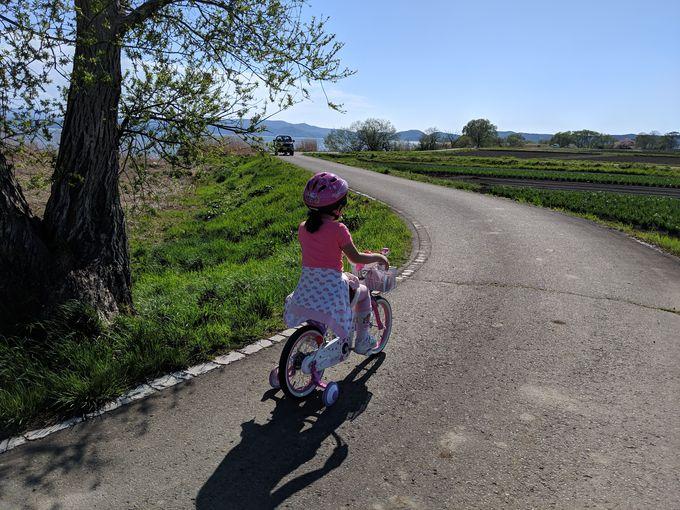 子供にも安心なサイクリングロード