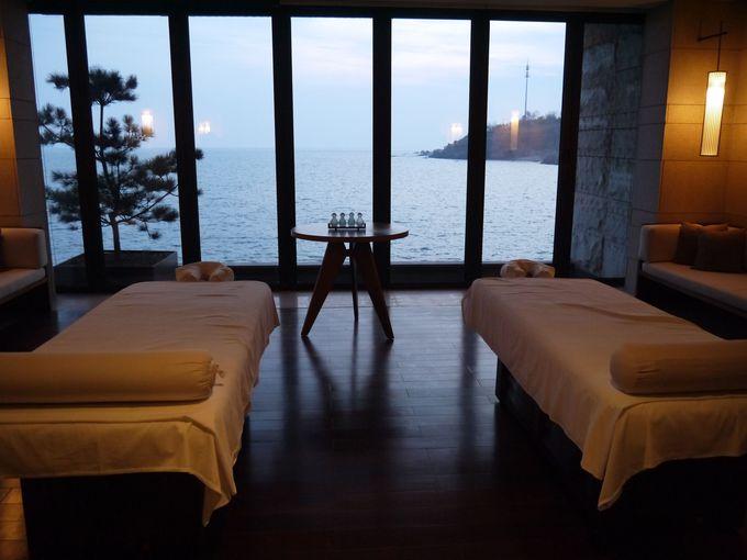 スパ、サウナ、中国茶などホテル滞在のアクティビティも豊富