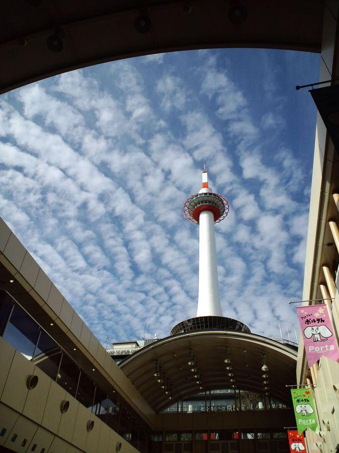 いつもより8メートル高い京都タワー