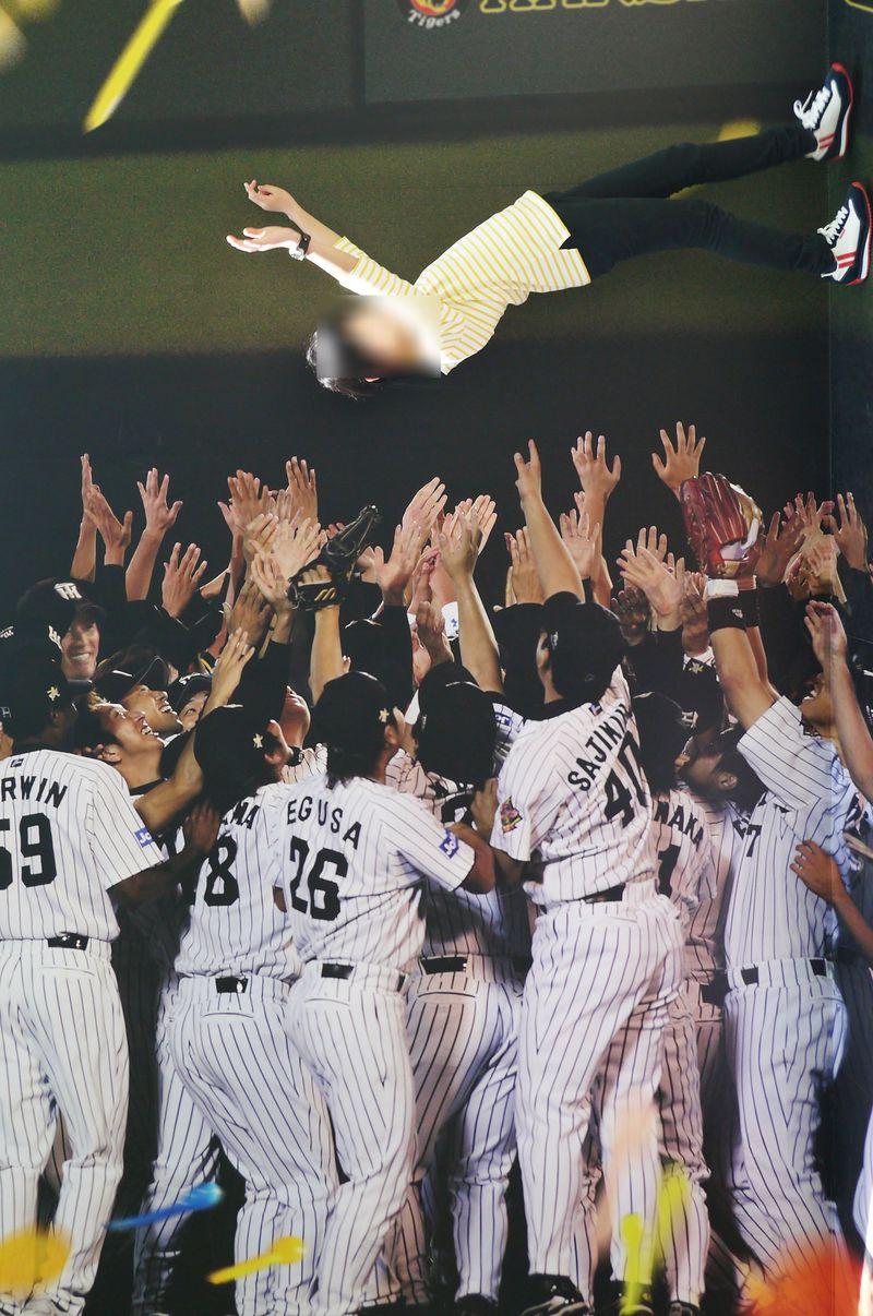 甲子園球場で宙に舞え!タイガース選手に胴上げしてもらえる撮影スポット