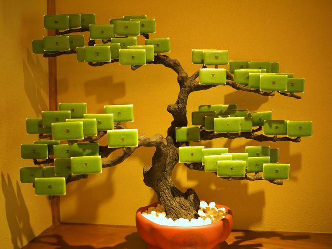 芸術の域!盆栽茶の菓