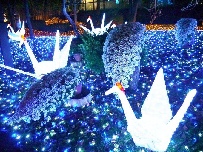 折鶴と菊の「和」の世界