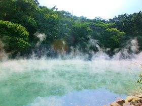 台北からMRTで30分!絶景の北投温泉・少師禅園で足湯を楽しむ