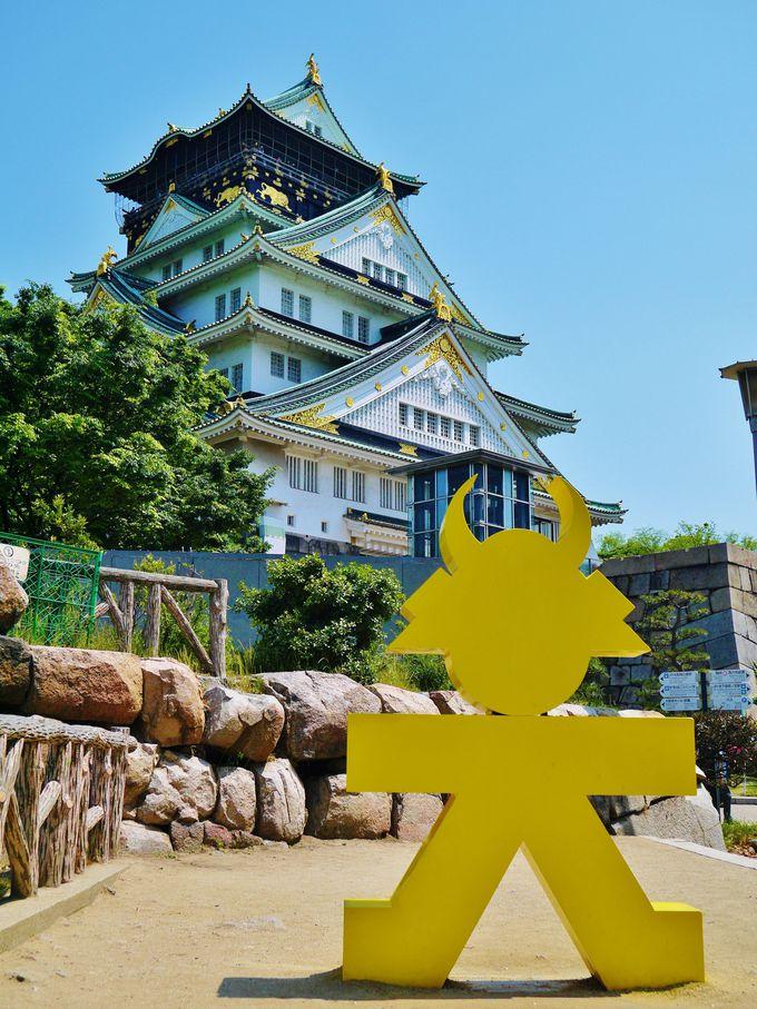 「大坂の陣400年天下一祭」オブジェと記念撮影