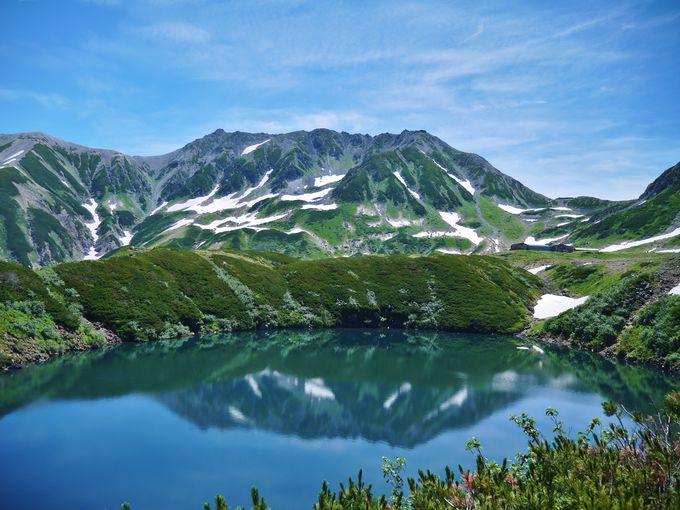 立山三山を映す鏡