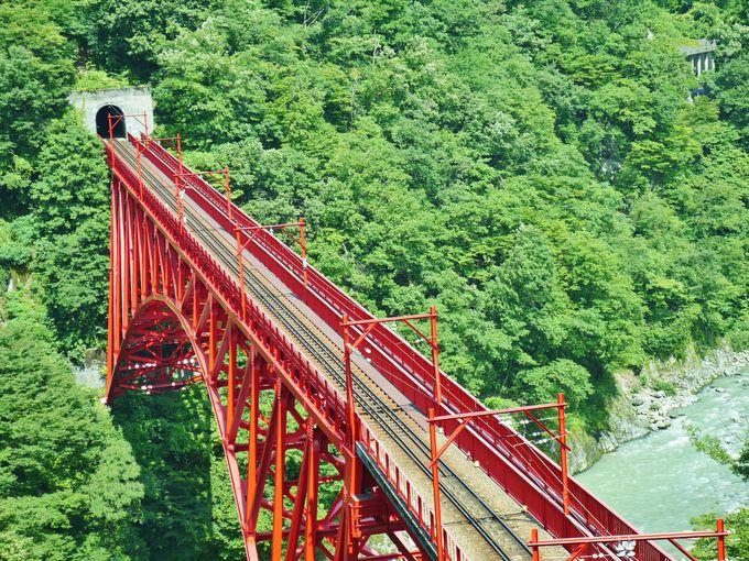 橋を渡るトロッコを上から撮りたいなら