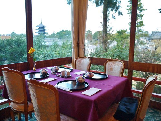 興福寺五重塔を眺めながらの朝食