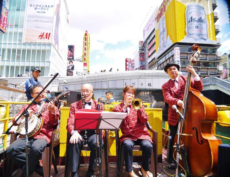大阪ミナミ・道頓堀川でジャズクルーズ「とんぼりリバージャズボート」