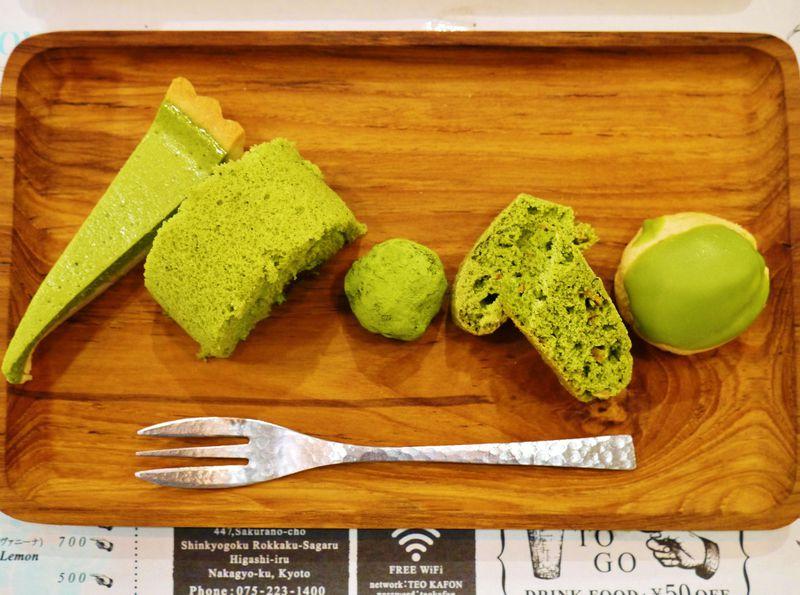 京都で抹茶スイーツに迷ったらコレ!抹茶スイーツ全部盛を「テオカフォン」で