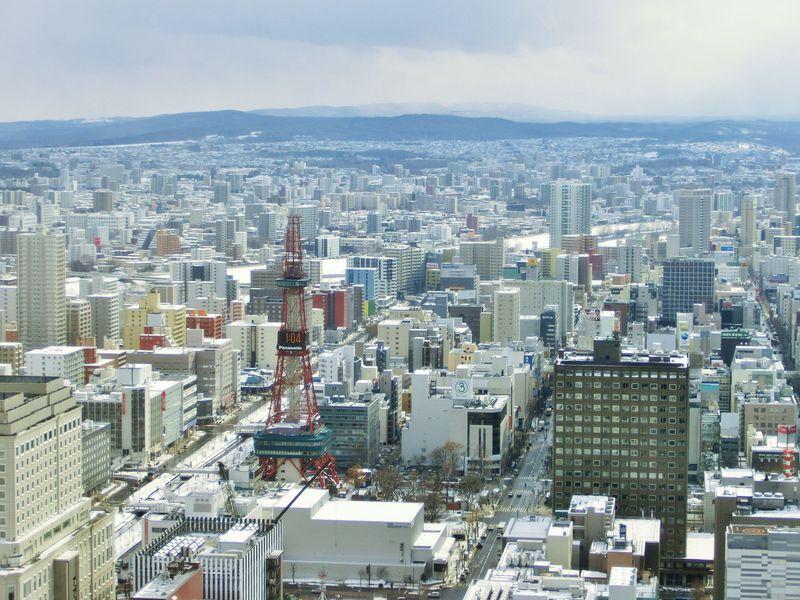 札幌駅周辺観光スポット「JRタワー展望室(タワー・スリーエイト)」