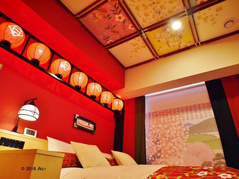 松竹コラボの「歌舞伎ルーム」が艶やか!ホテルグレイスリー京都三条