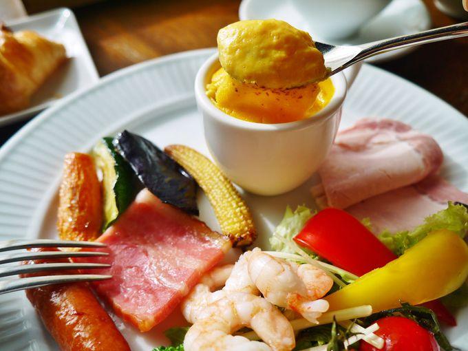「ザ・ルイガンズ. スパ&リゾート」の朝食は、時間をかけてゆっくりと