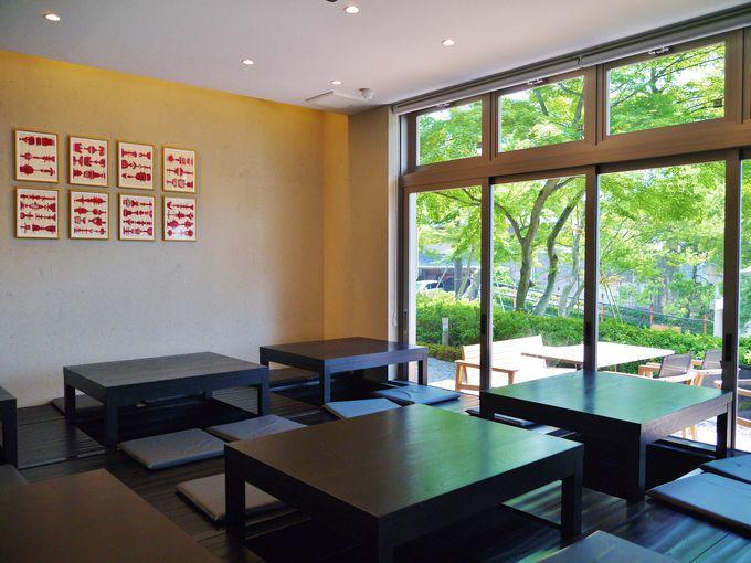 「スロージェットコーヒー高台寺」の店内には小上がりも
