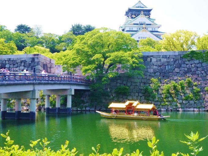 大阪城公園 なんと…法螺貝(ほらがい)