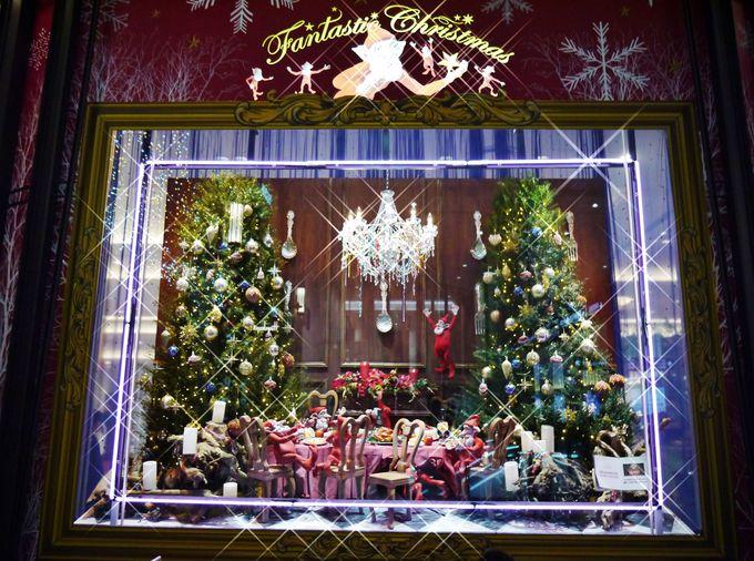 阪急うめだ本店のクリスマスディスプレイ