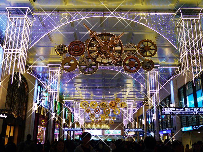 阪急梅田のイルミネーション「0号線のプラットフォーム」が美しい