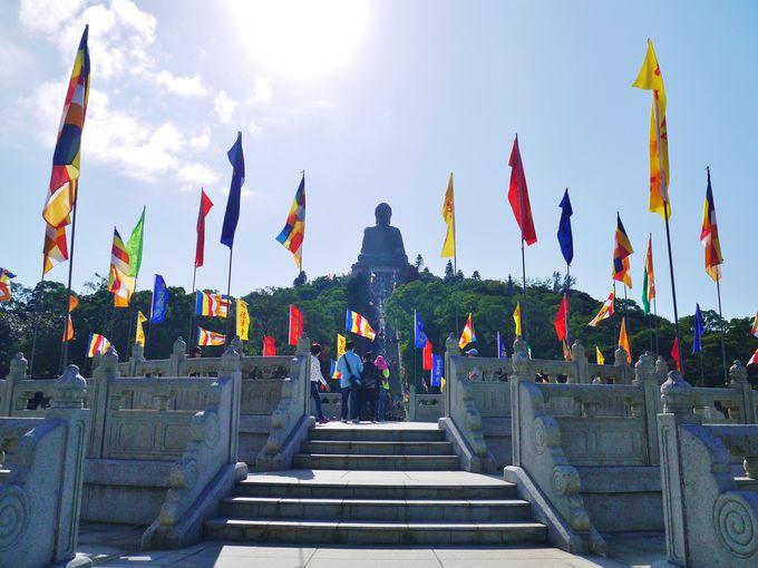 ハートスートラの前後に立ち寄りたい「天壇大仏」と「寶蓮寺」