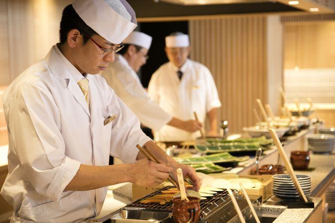 「ライブ割烹 万蓮」割烹のお味をブッフェスタイルで!