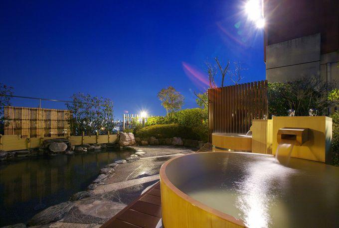 月と星が楽しめる屋上露天風呂