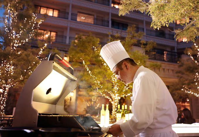 神戸の夜景と一緒にグランピング気分も楽しめる「ガーデングリル」