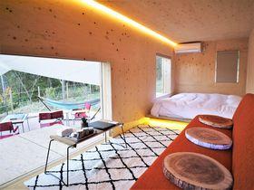 隈研吾氏のモバイルハウスに泊まる「ゆとりろグランピングガーデン熱海伊豆山」