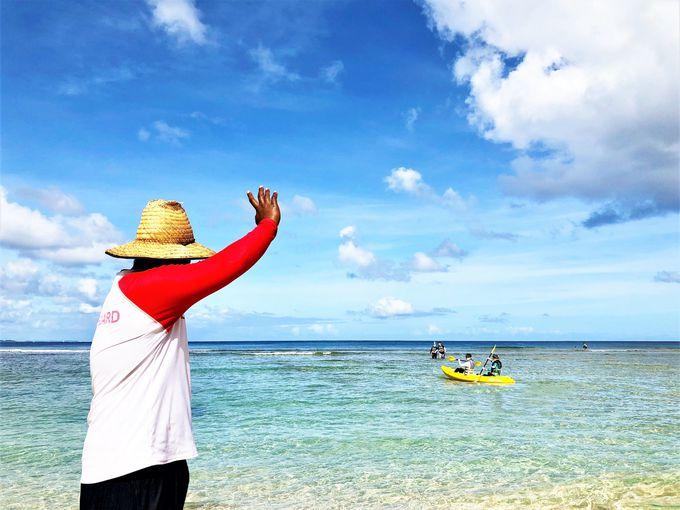 プライベートビーチのような海を満喫!