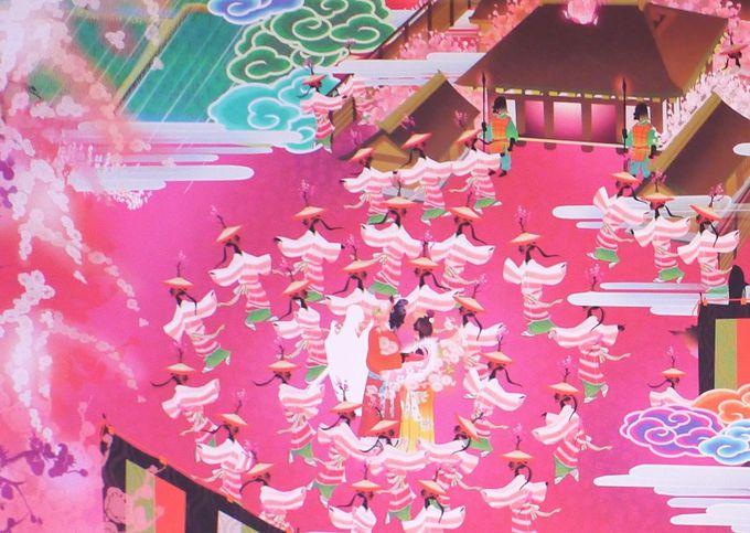極彩色のピンクの世界「極彩色梅匂小町絵図」