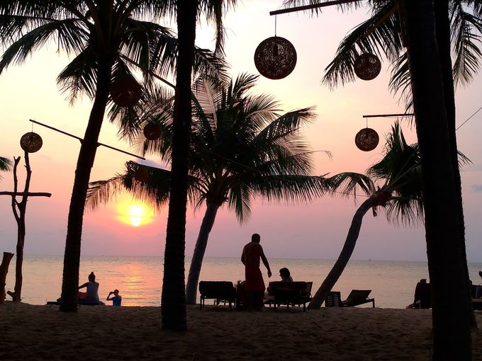 フーコック島では美しい夕日が見られる