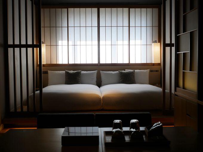外に出なくても京都にいることを感じられるゲストルーム