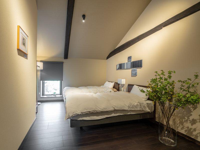 2階スペースは寝室として