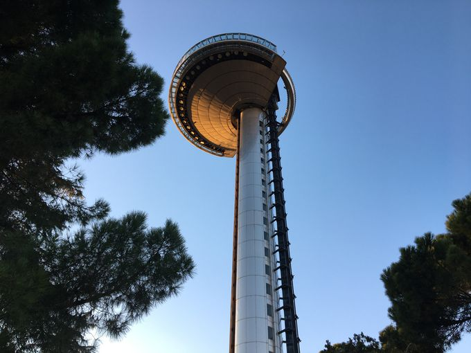 92mの高さからマドリードを一望!